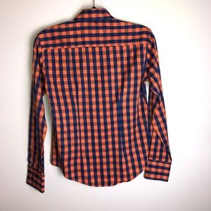 Tops - Plaid button up shirt with ruffles